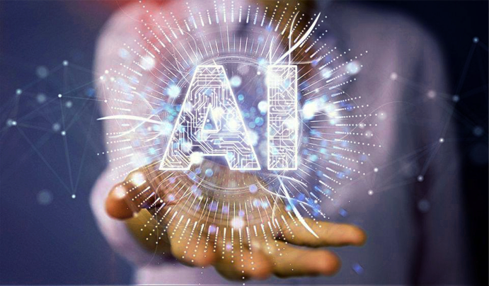 A professional holds the vast potential of artificial intelligence in their hand.