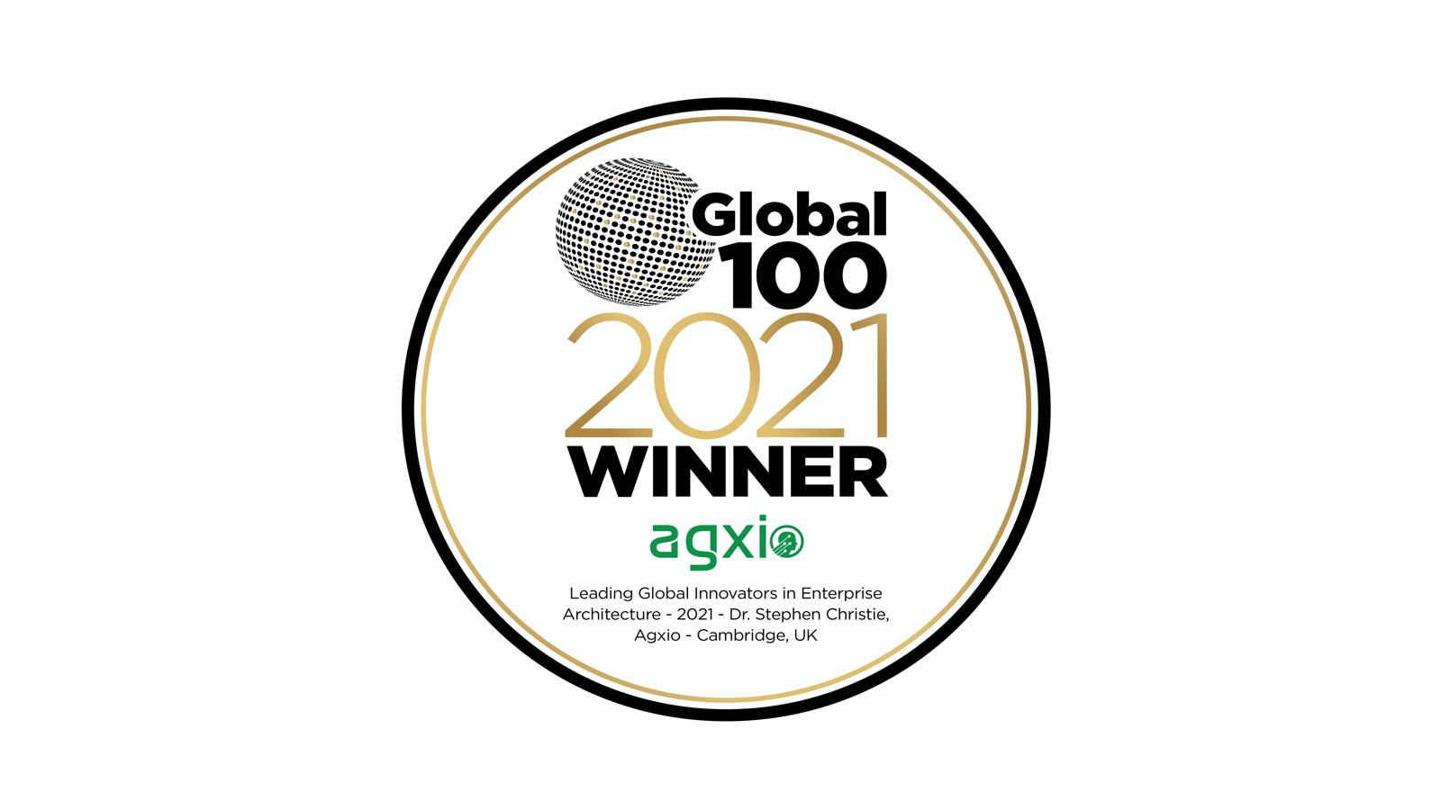 Global Top 100 2021 Winner Agxio