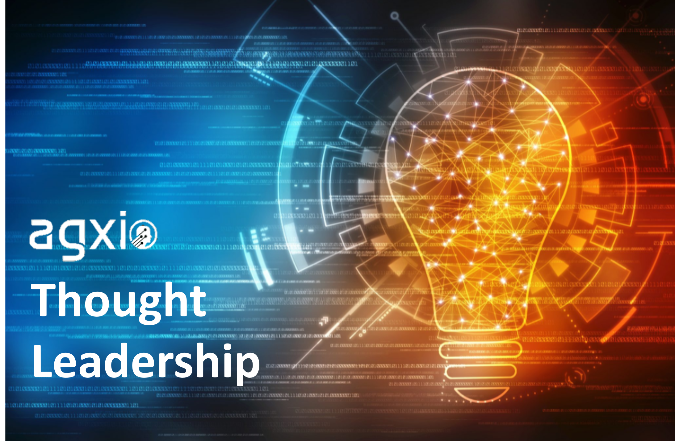 Agxio Thought Leadership article.